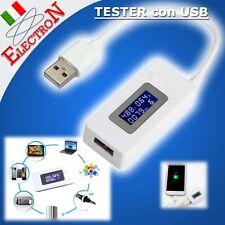 USB Tester Tensione Corrente 7V-3,5A Voltage Current Meter Voltmetro Amperometro