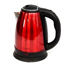 RED STAINLESS STEEL PREMIUM 1.8L ELECTRIC KETTLE INDICATOR LIGHT CORDLESS 360