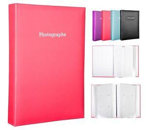 Large Pink Memo Slip In Photo Album Holds 300 6 x 4 Photos (10x15cm)