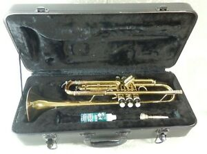 Florian Trumpet Brass Musical Instrument In Need Of Restoration With Hard Case