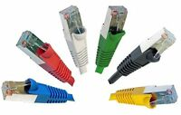 RJ45 Cat5e Ethernet Network Cable Snagless Shielded METAL ENDS lot 50cm to 10m