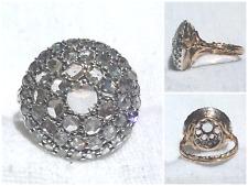 Anello Antico a Toppa in Oro, Argento e Diamanti Rose Coroné