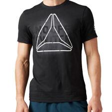 Camisetas y polos de deporte de hombre negras 100% algodón