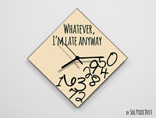 Whatever I'm Late Anyway / Diamond Beige - Wall Clock