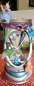 Disney Fairies Fairy Godmothers Tinkerbell Hourglass Snowglobe Read Description