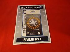 Revolution X Sega Saturn Vidpro Promotional Display Card ONLY