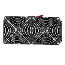 Aluminum 80mm Water Cooling cooled Row Heat Exchanger Radiator+Fan for CPU PC JL