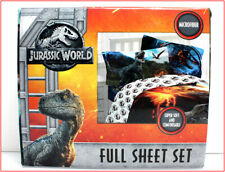 Universal JURASSIC WORLD Sheet Set -Dinosaur BLUE v Stiggy Predator FULL 🌟NEW🌟