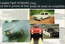 C- Publicité advertising 1968 (2 pages) Opel Kadett Rallye Coupé GT 1900