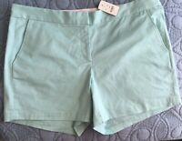 """Size 14 NEW Womens """"346"""" Brooks Brothers Mint Green Chino Shorts NWT"""