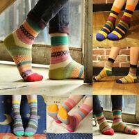Unisex Soft Cotton Stripe Socks Fashion Dress Women's Men's Winter Warm Socks