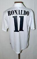 REAL MADRID 2002/2003 CENTENARY HOME FOOTBALL SHIRT ADIDAS #11 RONALDO SIZE L
