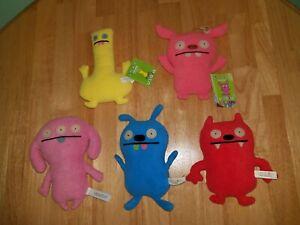 Ugly Doll Lot of 5 Small Plush Toys Tutulu Dave Darinko Fea Bea Peaco Puglee