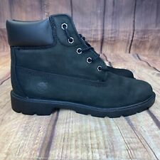 "Timberland 6"" Waterproof Boots Youth Size 7 Boots - Black - 10910 - Worn Twice"