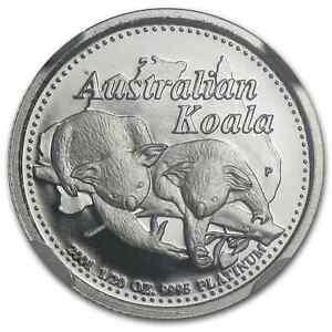 RARE ~ 2001 P ~ $5 PLATINUM ~ KOALA ~1/20~OZ~ PERTH  MINT ~ NGC  PF~69 ~ $458.88