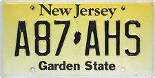 New Jersey License Plate,  Original Nummernschild   A87 AHS  ORIGINALBILD
