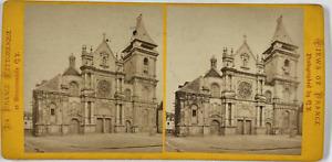 France, Beauvais, Eglise Saint Etienne Vintage stereo card, Q.V., Phot., La Fr