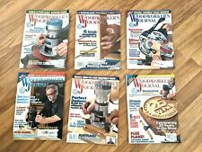 """Woodworker""""S Journal Magazine Lot of 6 (2001) Patterns, Instructions, and Tips"""