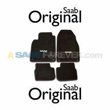 NEW SAAB 9-3 CONVERTIBLE FLOOR MATS 04-11 BLACK W/ SAAB LOGO OEM *NLA LAST SET*