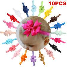 10PCS Kids Girl Baby Toddler Bow Flower Headband Hair Band Accessories Headwear