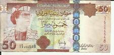 LIBYA 50 DINARS 2008  P 75. VF  CONDITION. QADDAFI. 4RW 25 OCT