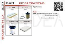 KIT 4 FILTRI TAGLIANDO FIAT 500L 1.3 MULTIJET (62/70KW) 12->