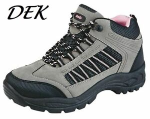 dek Ladies Womens Walking Hiking Lace Up Hiker Casual Ankle Boots Shoes Size