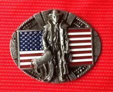 AMERICAN Vaquero Rancher Salvaje Oeste Oeste Rodeo bandera vestido elegante Hebilla de cinturón