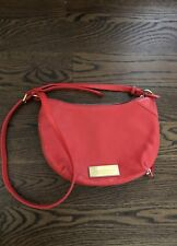 Marc By Marc Jacobs Leather Handbag Crossbody Red Coral