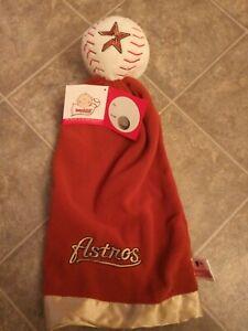 HOUSTON ASTROS MLB Officially Licensed SnuggleBall Plush Baby Security Blanket