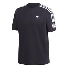 Adidas 3d trefoil 3 Stripes rayas té t-shirt-Black/White