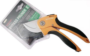 HRC59-61 HD Chrome Bypass Pruner Shears Thick Cloth Upholstery Taiwan Made TA521