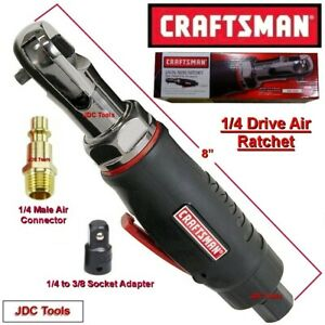 CRAFTSMAN 1/4 DRIVE MINI AIR RATCHET WRENCH  w 1/4 to 3/8 Impact Adapter - 3/8