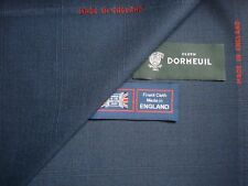 "DORMEUIL 100% WOOL SUITING FABRIC IN NAVY ""Check"" DESIGN MADE IN ENGLAND- 3.4 m."