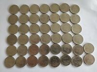 1 Franc French coins lot of 44 coins 1970-1999