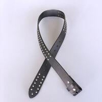 Men Real Leather Belt Black Punk Nails Studded Solid Real Leather Belt Gurtel