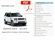 LAND ROVER DISCOVERY 4 LR4 2013 2014 2015 SERVICE REPAIR WORKSHOP MANUAL