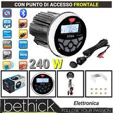 RADIO USB BLUETOOTH AUX BOSS MARINE MGR350B + MUSB35 NAUTICO STEREO 240W - BARCA