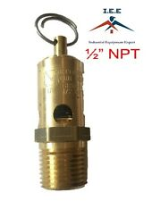 "200 PSI Air Compressor Safety Relief Pop Off Valve Solid Brass 1/2"" Male NPT New"