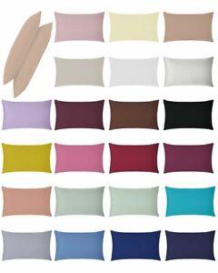 Non Iron Plain Dye Housewife Pillowcase Pair