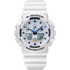 Orologio Casio G-Shock GA-100A-7AER Bianco Nuovo Originale Ufficiale