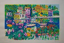 Athos FACCINCANI, Portofino, serigrafia, 70x100 cm, autentica, p.a, fattura
