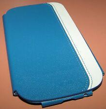 Voia Premium Leather flip cover case Samsung Galaxy S III, Blue, White