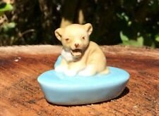 Wade whimsies zoo light lion cub candle holder vintage wade England figurine