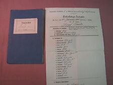 Altes Zeugnisheft und Abschlußzeugnis 1906 - 1914 Mülheim Rhein Zeugnis Heft