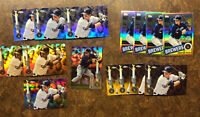 Christian Yelich 2020 TOPPS CHROME LOT (15) Photo SP!! Refractors Prism Sepia