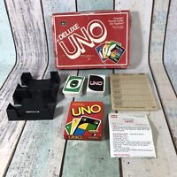 VINTAGE 1990 RARE DELUXE EDITION UNO CARD GAME (2-8 PLAYERS) - 100% COMPLETE