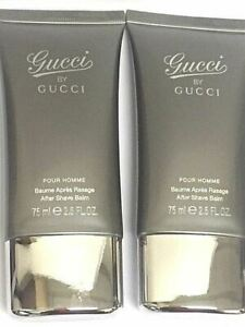 Gucci by Gucci Pour Homme men 2 x 2.5 Oz After Shave Balm Tube 1 -scratched