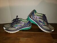 Brooks Ghost 7 G7 Running Shoes Purple Green - Womens Size 8 Sneakers Wide (D)