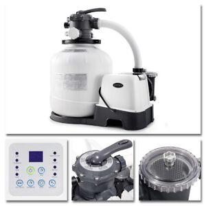 INTEX Sandfilter 10m³ Sandfilteranlage Salzwassersystem Chlorgenerator Filter